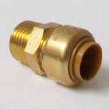 Brass Push Fit Straight 15mm to 1/2 inch Male Thread - 27031500